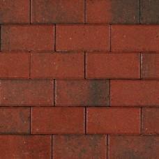Betonklinker rood genuanceerd met deklaag 21x10,5x8cm