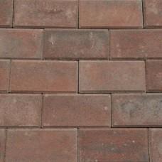 Betonklinker rood zwart met deklaag 21x10,5x6cm