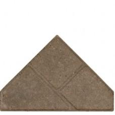 Bisschopsmuts grijs met deklaag 8cm
