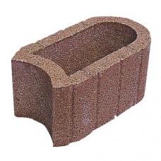 Hangflor ovaal bruin 40x25x20cm