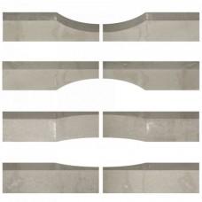 Linia excellence wave graniet grijs 15x15x60cm