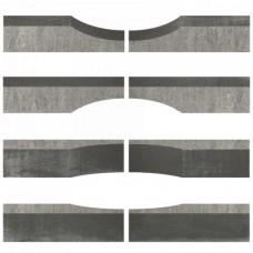 Linia excellence wave grijs zwart 15x15x60cm