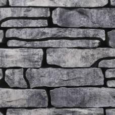 Stone Walling grijs zwart p/m2