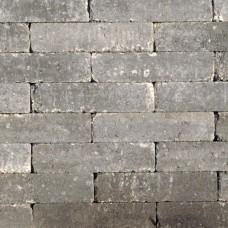 Waalformaat getrommeld grijs zwart 20x5x7cm