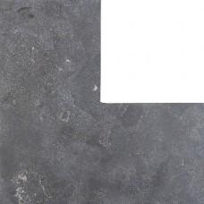 Asian bluestone vijverrand hoek gezoet met facet 3x20x40/40cm