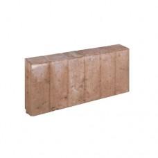 Blokjes palissadeband vierkant bruin 8x25x50cm