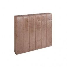 Blokjes palissadeband vierkant bruin 8x50x50cm