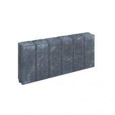 Blokjes palissadeband vierkant zwart 8x25x50cm