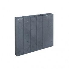 Blokjes palissadeband vierkant zwart 8x50x50cm