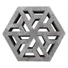 Eco tegel antraciet 37,5x37,5x7cm Gardenlux