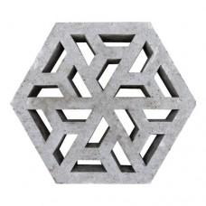 Eco tegel grijs 37,5x37,5x7cm Gardenlux