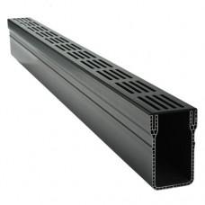 Garden Drain zwart aluminium goot 6,5x10x100cm