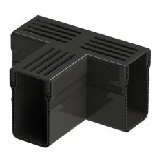 Garden Drain zwart aluminium t-stuk