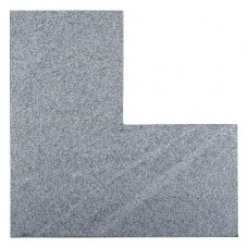 Graniet vijverrand hoek Dark Grey Flamed 3x25x50/50cm