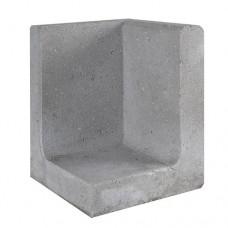 L-hoekelement grijs 30x30x40cm Gardenlux