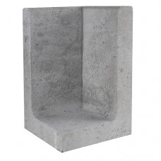 L-hoekelement grijs 30x30x50cm Gardenlux