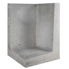 L-hoekelement grijs 40x40x60cm Gardenlux