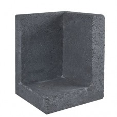 L-hoekelement zwart 30x30x40cm Gardenlux