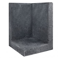 L-hoekelement zwart 40x40x60cm Gardenlux