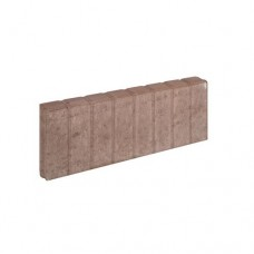 Mini blokjes palissadeband vierkant bruin 6x20x50cm