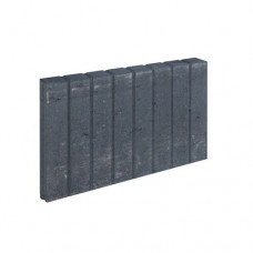 Mini blokjes palissadeband vierkant zwart 6x35x50cm