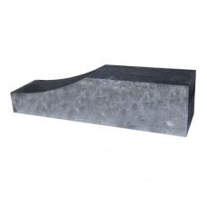 Palissade Block wave grijs zwart 60x15x15cm