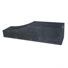 Palissade Block wave zwart 60x15x15cm
