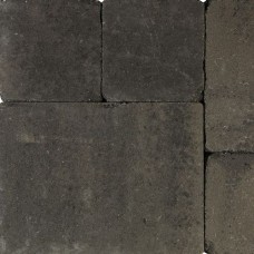 Tambourisés Brique grijs zwart 20x20x5cm