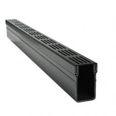 Aquadrain black grating 100x10x6,5cm