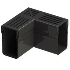Aquadrain black grating corner 6,5cm