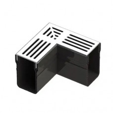 Aquadrain grey grating corner 6,5cm