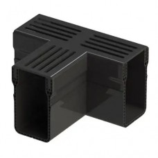 Aquadrain black grating tee section 6,5cm