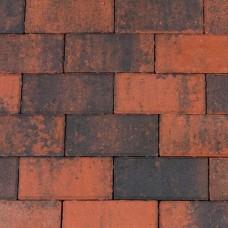 Betonklinker rood zwart 21x10,5x6cm