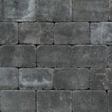 Antieke trommel betonstraatsteen 21x10,5x6cm antraciet gebakken
