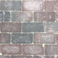 Antieke trommel betonstraatsteen 21x10,5x6cm groninger bruin gebakken
