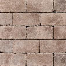 Antieke trommel betonstraatsteen 21x10,5x6cm mangaan gebakken