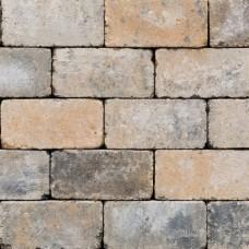 Antieke trommel betonstraatsteen 21x10,5x6cm musselkalk gebakken