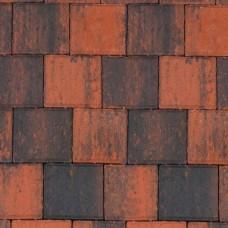 Halve betonklinker rood zwart 10,5x10,5x8cm
