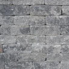 Splitrocks getrommeld grijs zwart 11x13x32cm