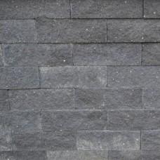 Splitrocks ongetrommeld hoekstuk antraciet 11x13x29cm