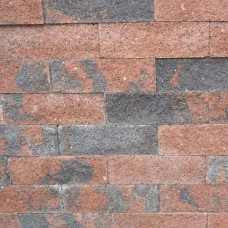 Splitrocks ongetrommeld hoekstuk bruin zwart 11x13x29cm