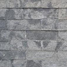 Splitrocks ongetrommeld grijs zwart 11x13x32cm