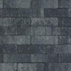 Strak dikformaat grijs zwart 21x7x6cm