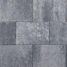 Straksteen grijs zwart 20x30x5cm