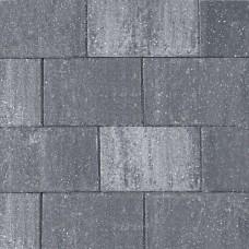 Straksteen grijs zwart 20x30x6cm