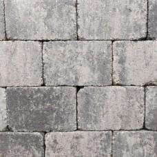 Trommelsteen grijs zwart 20x30x5cm
