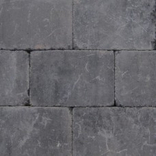 Trommelsteen antraciet 20x30x4cm