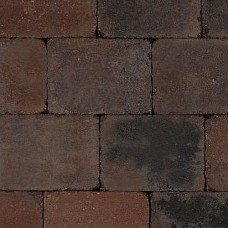 Trommelsteen bruin zwart 20x30x6cm