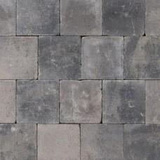 Trommelsteen grijs zwart 20x20x6cm
