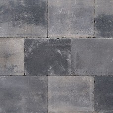 Trommelsteen grijs zwart 20x30x4cm